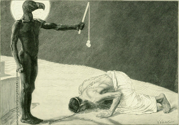 """Mammon and His Slave"" by Sascha Schneider.  From WikiMedia."