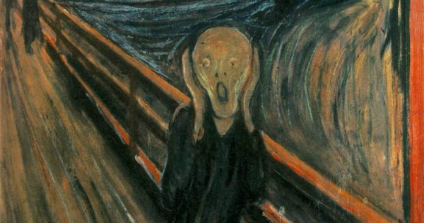 "Detail from Edvard Munch's ""The Scream."" From WikiMedia."