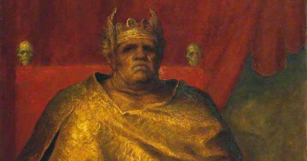"""Mammon"" by George Frederic Watts (detail).  From WikiMedia."