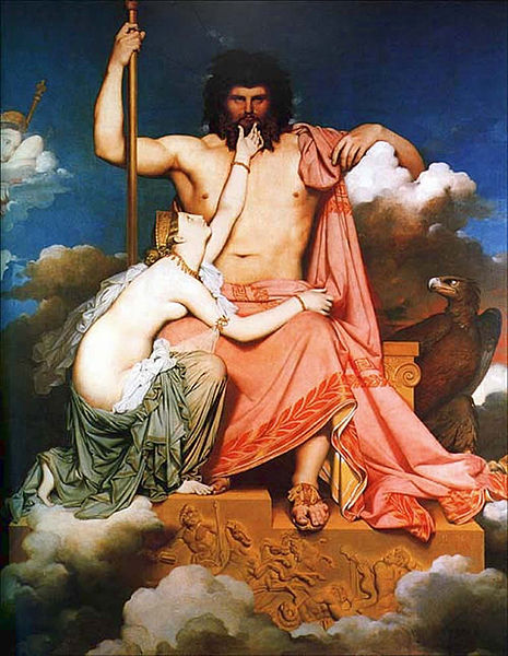 """Zeus and Thetis"" by Jean Auguste Dominique Ingres.  From WikiMedia."