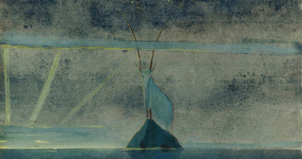 """The Sun is Passing the Sign of Capricorn"" by Mikalojus Konstantinas Čiurlionis..  From WikiMedia."