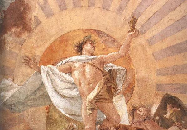 """""""Apollo & the Continents"""" by Giovanni Battista Tiepolo.  From WikiMedia."""