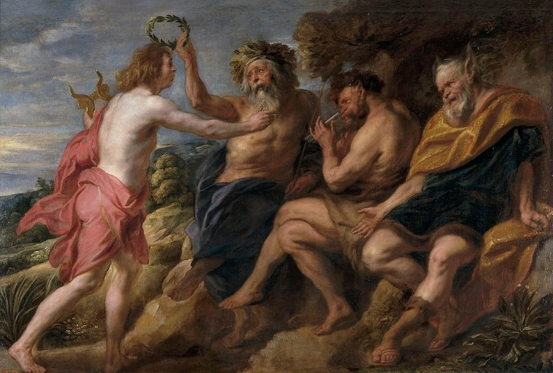 """Somehow King Midas Chooses Apollo Over Pan"" by Jacob Jordaens (1637).  From WikiMedia."