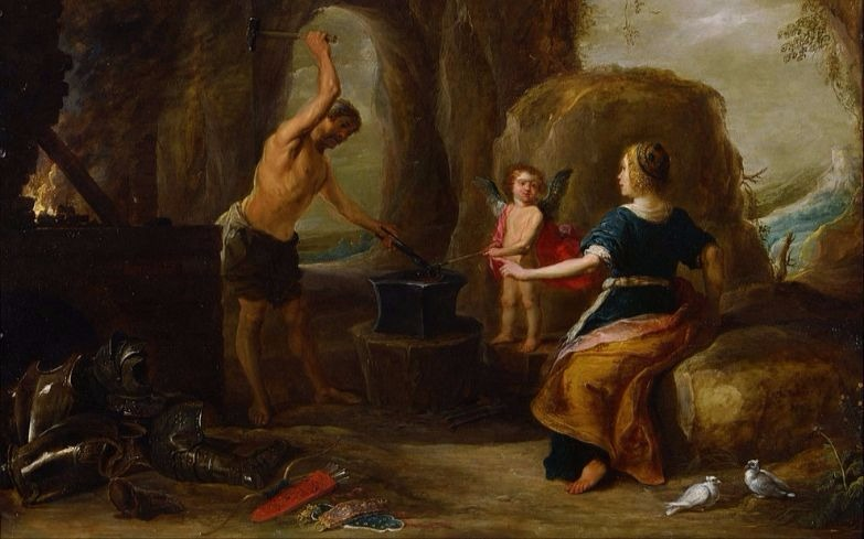 """""""Venus visiting Vulcan's Forge """" by David Teniers the Elder, From WikiMedia."""