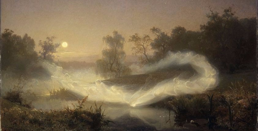 """""""Dancing Fairies"""" by August Malmström.  From WikiMedia."""