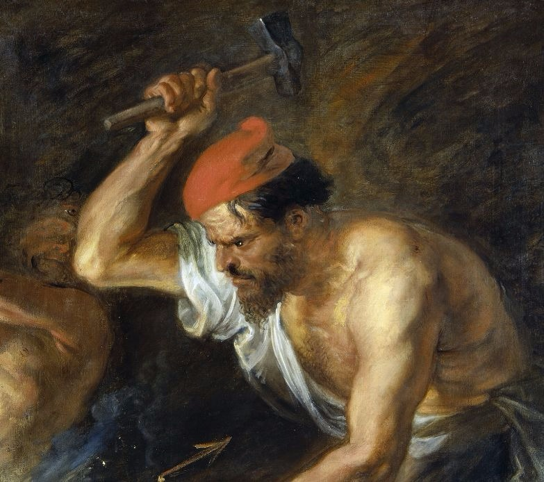 """""""Vulcan Forging the Thunderbolts of Zeus"""" by Peter Paul Rubens.  From WikiMedia."""