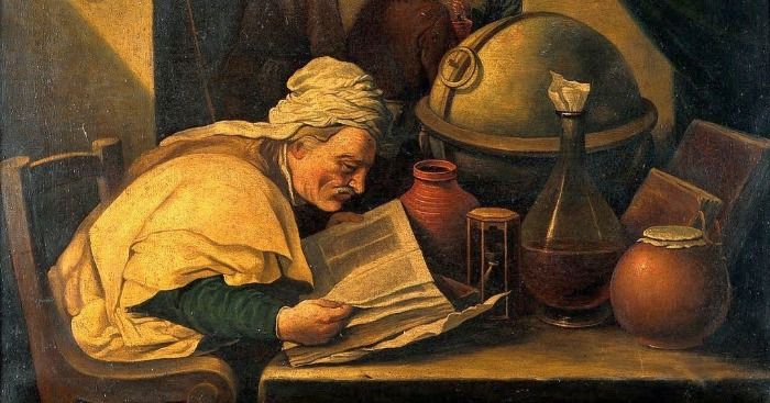 """An Alchemist in His Laboratory"" by David Teniers the Younger. F rom WikiMedia."