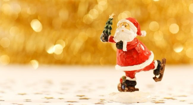 Santa Figurine via Pexels.  CC0 License.
