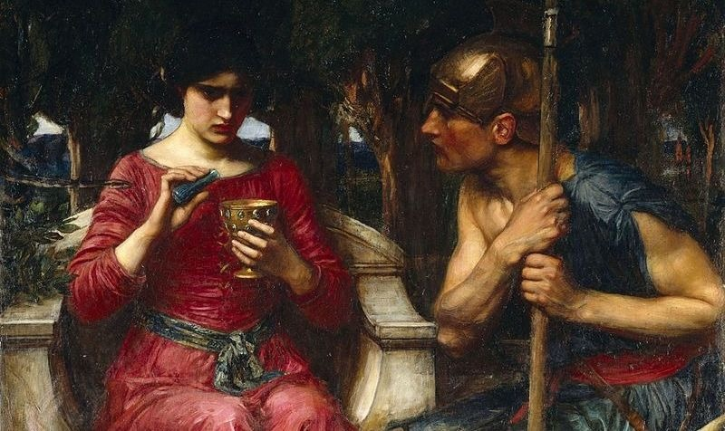 """Jason and Medea"" by JW Waterhouse.  From WikiMedia."