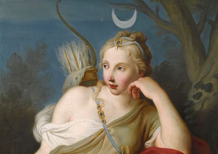 """Diana-Goddess of the Hunt"" by Pietro Antonio Rotari.  From WikiMedia."