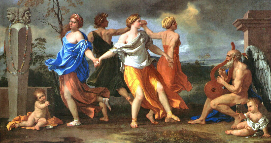 """A Dance to the Music of Time"" by  Nicolas Poussin, from WikiMedia."