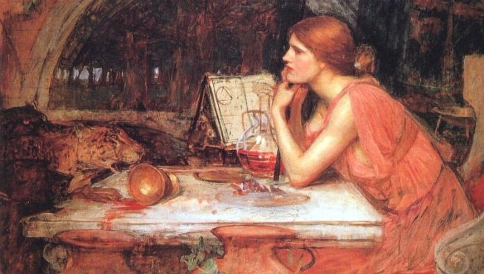 """The Sorceress"" by JW Waterhouse.  From WikiMedia."