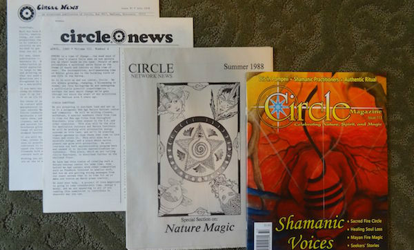 Circle Magazine covers over the years.  Courtesy of our friends at the Wild Hunt.