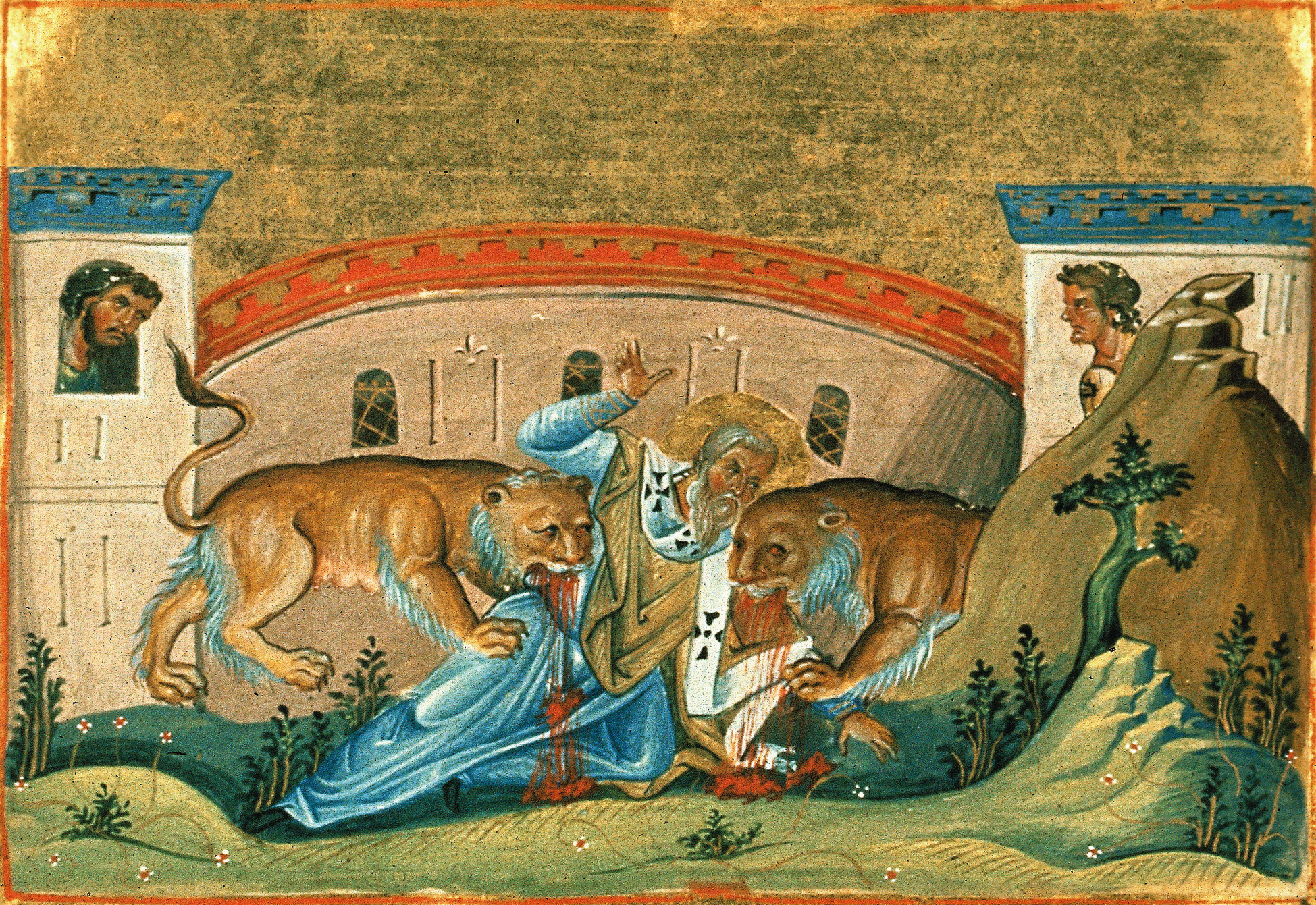 St. Ignatius of Antioch. Painting by Menologion of Basil II.