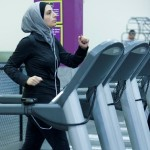 Nawal Aoude works out in her hijab at Planet Fitness.
