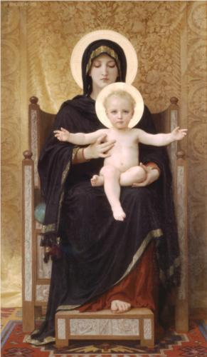 """Virgin and Child"" by WIlliam Adolphe-Bougeureau (1888)"