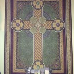 Celtic cross tapestry in my bedroom
