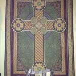 Celtic cross tapestry in my bedroom