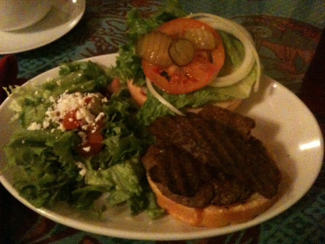 BBQ Afghani Bacon Burger from Cafe Sophia