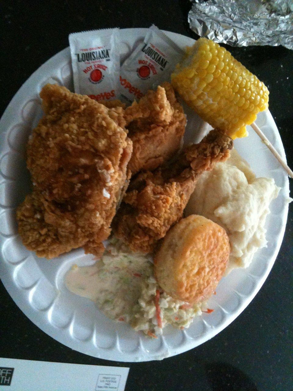 Fried Chicken Jummah Plate