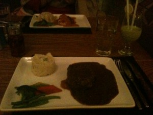 "Steak Dinner from ""The Cafe Upstairs"" in Lahore, Pakistan"