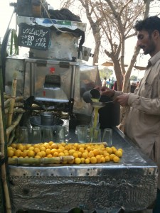 Sugarcane Juice Coming out of the Juicing Machine!
