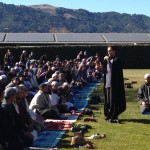 Sh Hamza speaking at the Rain Prayer in Pleasanton, CA