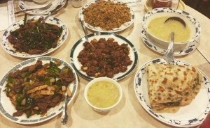 Muslim Chinese spread at Darda Seafood in Milpitas, CA