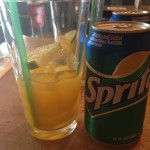 "The special ""Mango Sprite"" drink at Mirchi Cafe in Fremont, CA"