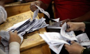Egyptian officials count votes