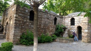 The house in which Mary is purported to have lived her last years, located in  Mt. Koressos in the vicinity of Ephesus, near Selçuk in Turkey.