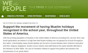 The Problem with Petitions – for Muslim School Holidays and Otherwise