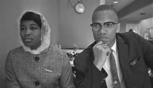 Malcolm X and Betty Shabazz