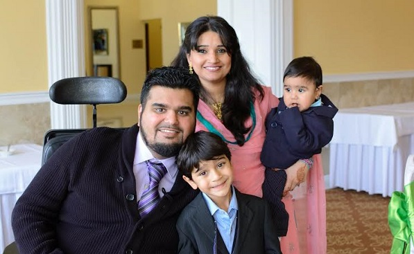 Photo of Omer and Sadaf Zaman and their children. Photo provided by Omer Zaman.