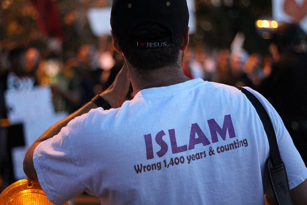 Rallies against Islamic law draw counterprotests