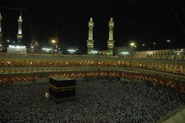 Makkah and the Hajj at night. Image source: Pixabay