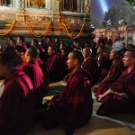 Tibetan Monks at the Bodhi Tree, Bodh Gaya, India