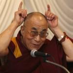 dalai lama - devil horns