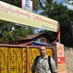 Justin Whitaker at Burma's NLD Headquarters, Yangon (Rangoon)