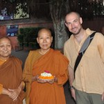 ven molini and ven dhamma vijaya with the author in bodh gaya 2010