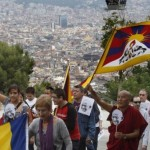 tibetans protest in spain