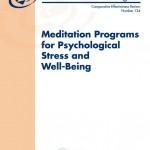AHRQ report on Meditation
