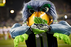 Seattle Seahawks mascot