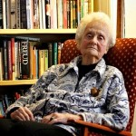 Moral philosopher Mary Midgley at home in Newcastle. Photographed for the Observer by Gary Calton