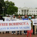 Rohingya and supporters protest in front of the White House in May, 2013. photo via