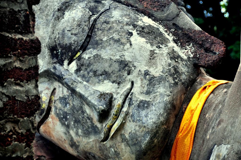 Lying Buddha, detail, Sukhothai, Thailand (2012)