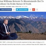 Brian Williams in Tibet via the onion