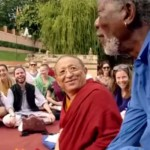 "Chokyi Nyima Rinpoche gives Morgan Freeman the Buddhist ""shortcut"" teachings for happiness"