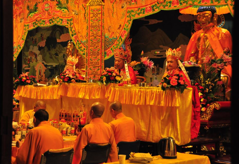 evening ceremony in Taiyuan