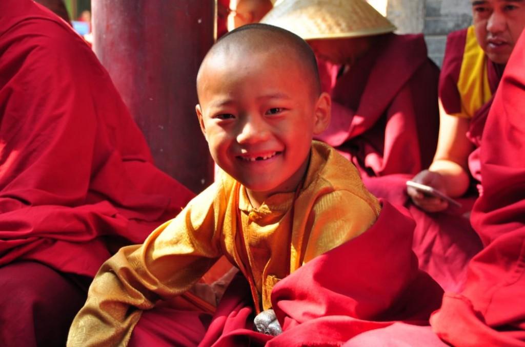tibetan boy at wutai shan